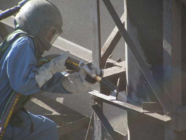 Blasting industrial painting for Sandblasting and painting